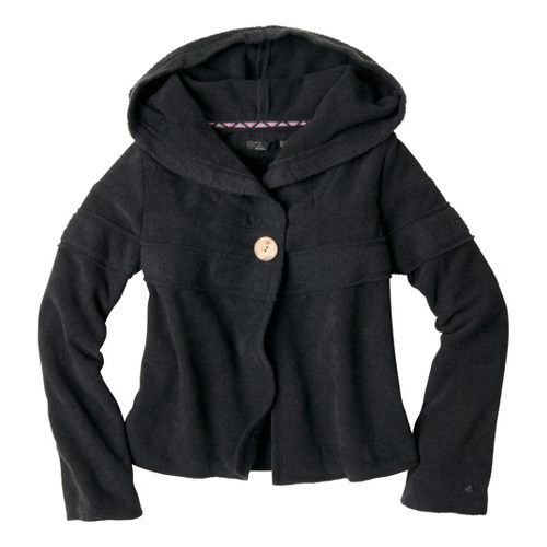 Womens Prana Lanie Warm-Up Unhooded Jackets - Black M