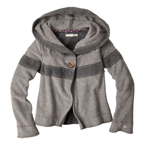 Womens Prana Lanie Warm-Up Unhooded Jackets - Sand M