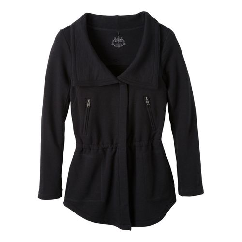 Womens Prana Josie Warm-Up Unhooded Jackets - Black L