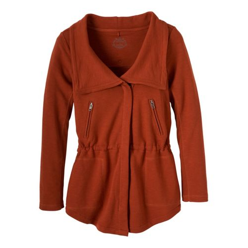 Womens Prana Josie Warm-Up Unhooded Jackets - Picante XS