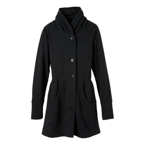 Womens Prana Mariska Warm-Up Unhooded Jackets - Black XS