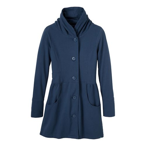 Womens Prana Mariska Warm-Up Unhooded Jackets - Blue Ridge S