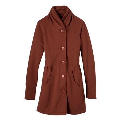 Womens Prana Mariska Warm-Up Unhooded Jackets - Terracotta XL
