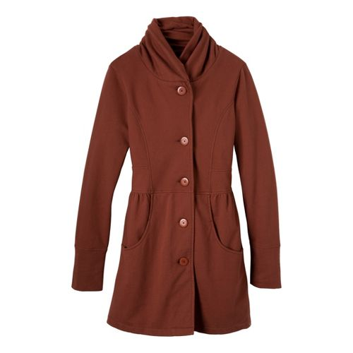 Womens Prana Mariska Warm-Up Unhooded Jackets - Terracotta XS