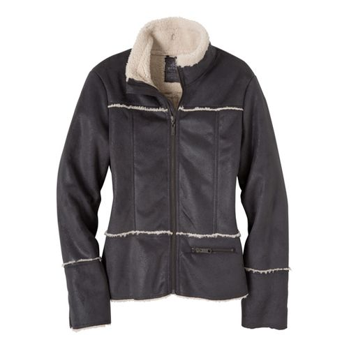 Womens Prana Esme Warm-Up Unhooded Jackets - Coal L