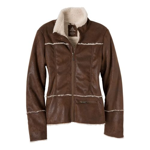 Womens Prana Esme Warm-Up Unhooded Jackets - Coffee XL