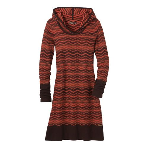 Womens Prana Meryl Sweater Dress Fitness Skirts - Espresso S