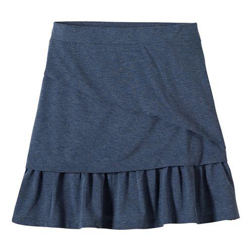 Womens prAna Leah Fitness Skirts - Grey S