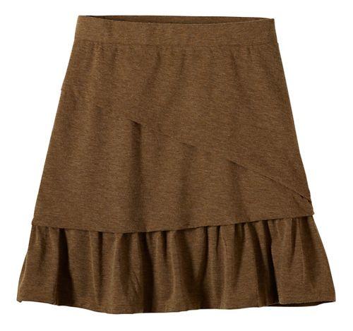 Womens prAna Leah Fitness Skirts - Brown M