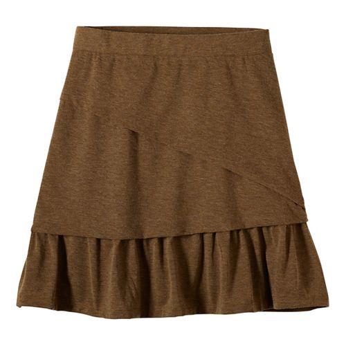Womens prAna Leah Fitness Skirts - Brown XL