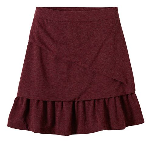 Womens prAna Leah Fitness Skirts - Red L