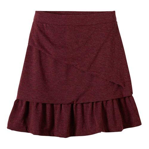 Womens prAna Leah Fitness Skirts - Red XL