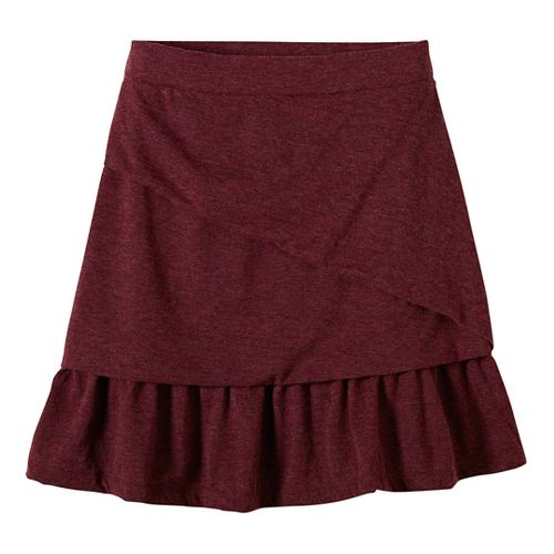 Womens prAna Leah Fitness Skirts - Red XS