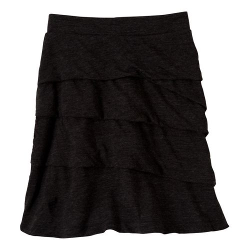 Womens Prana Leah Fitness Skirts - Black XS