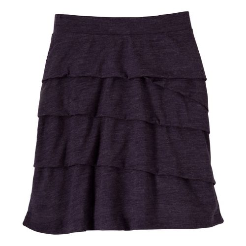 Womens Prana Leah Fitness Skirts - Dark Eggplant S