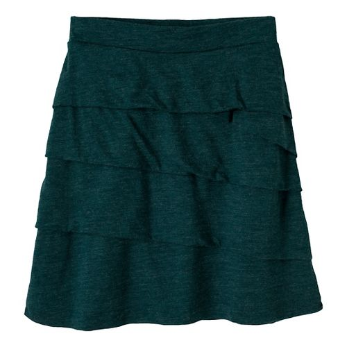 Womens Prana Leah Fitness Skirts - Deep Teal XL