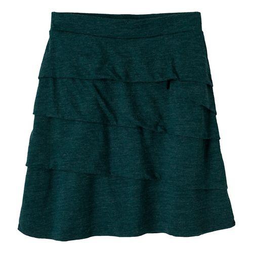 Womens Prana Leah Fitness Skirts - Deep Teal XS
