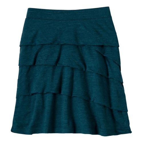 Womens Prana Leah Fitness Skirts - Ink Blue L
