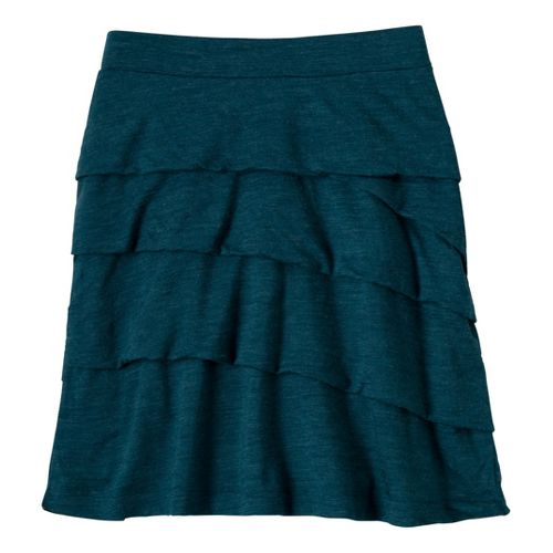 Womens Prana Leah Fitness Skirts - Ink Blue XL
