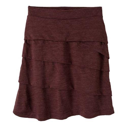 Womens Prana Leah Fitness Skirts - Mahogany M