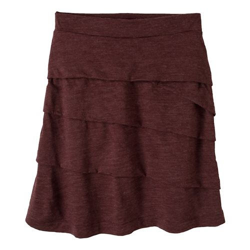 Womens Prana Leah Fitness Skirts - Mahogany XL