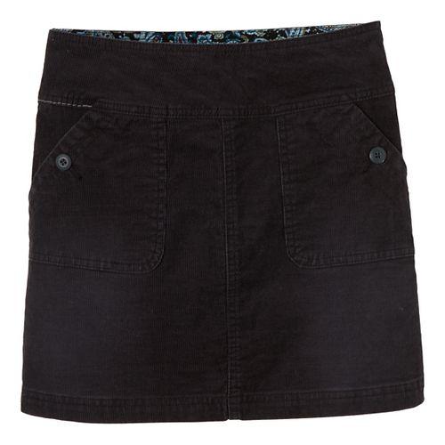 Womens Prana Canyon Cord Fitness Skirts - Black 4