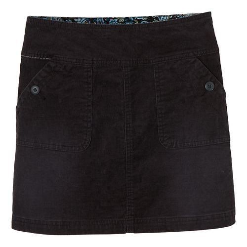 Womens Prana Canyon Cord Fitness Skirts - Black 6