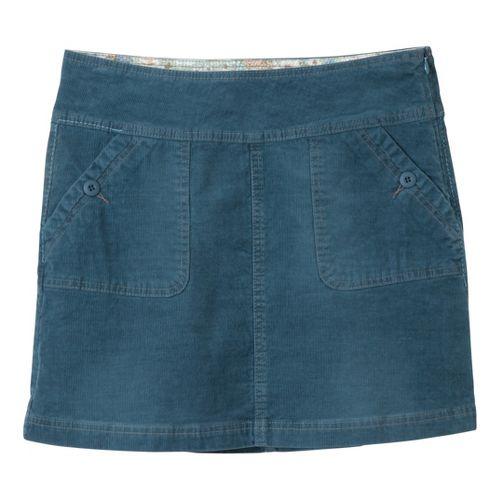 Womens Prana Canyon Cord Fitness Skirts - Blue Yonder 12