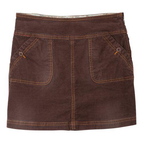 Womens Prana Canyon Cord Fitness Skirts - Espresso 10