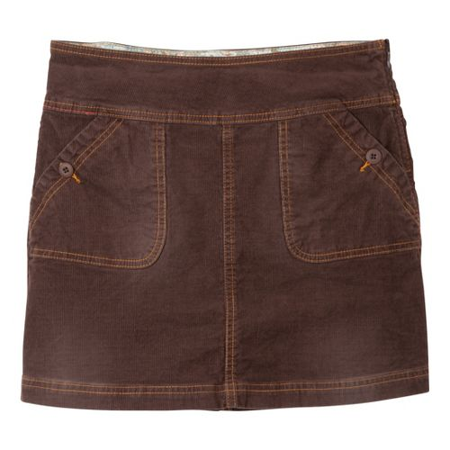 Womens Prana Canyon Cord Fitness Skirts - Espresso OS