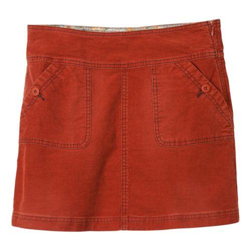 Womens Prana Canyon Cord Fitness Skirts - Rust 8