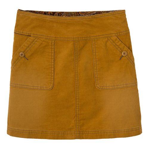Womens Prana Canyon Cord Fitness Skirts - Sahara 6
