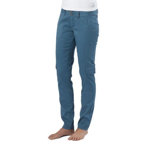Womens Prana Elena Full Length Pants - Blue Ash 14