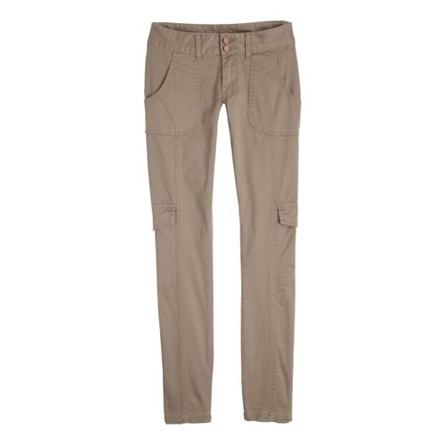 Womens Prana Elena Full Length Pants - Dark Khaki 14