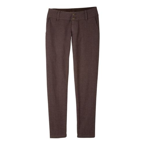 Womens Prana Krista Tweed Full Length Pants - Espresso OS