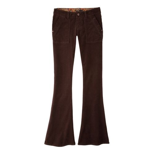 Womens Prana Adelle Cord Full Length Pants - Espresso 14
