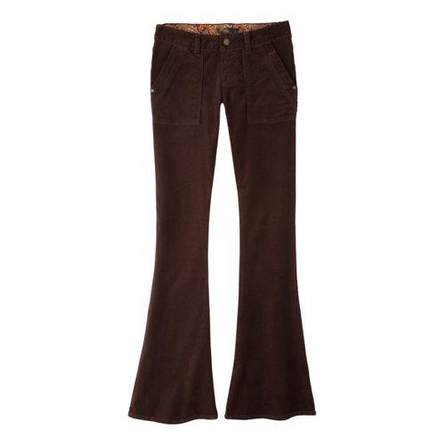 Womens Prana Adelle Cord Full Length Pants - Espresso OS
