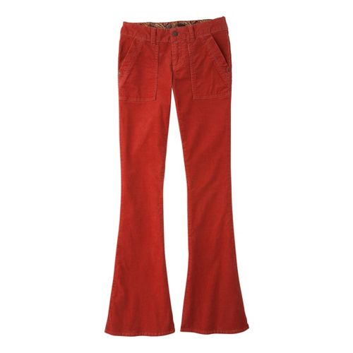 Womens Prana Adelle Cord Full Length Pants - Indian Red 4