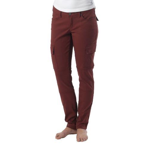 Womens Prana Meme Full Length Pants - Raisin 12