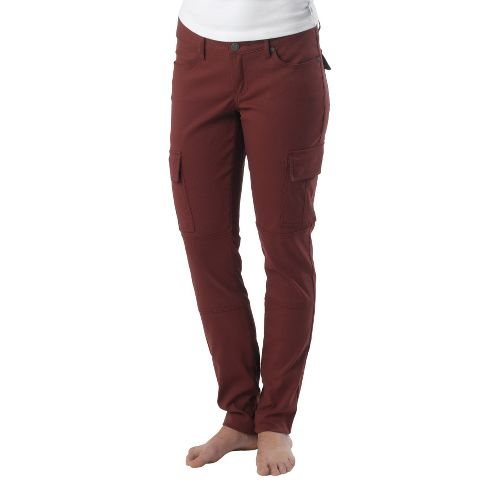Womens Prana Meme Full Length Pants - Raisin 8