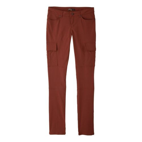 Womens Prana Meme Full Length Pants - Terracotta 10