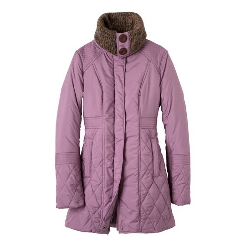 Womens Prana Arden Warm-Up Unhooded Jackets - Vintage Grape M