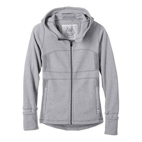 Womens prAna Drea Casual Jackets - Silver L