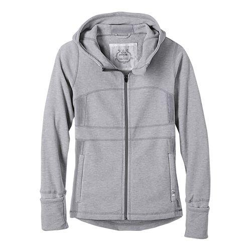 Womens prAna Drea Casual Jackets - Silver XS