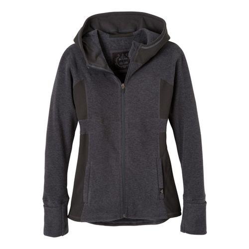 Womens Prana Drea Jacket Warm-Up Hooded Jackets - Black L