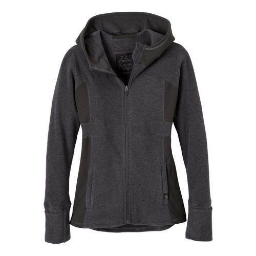 Womens Prana Drea Jacket Warm-Up Hooded Jackets - Black M