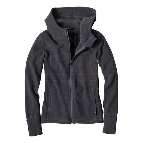 Womens Prana Drea Jacket Warm-Up Hooded Jackets - Coal M