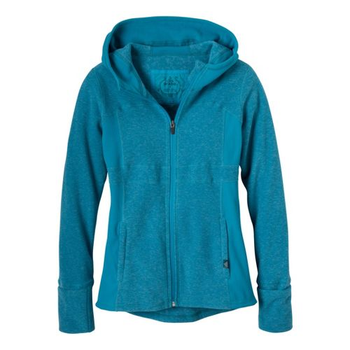 Womens Prana Drea Jacket Warm-Up Hooded Jackets - Deep Cyan L