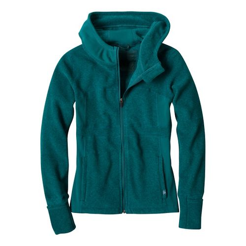 Womens Prana Drea Jacket Warm-Up Hooded Jackets - Deep Teal L