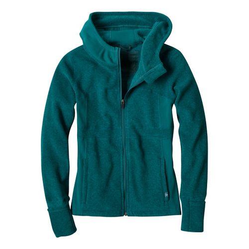 Womens Prana Drea Jacket Warm-Up Hooded Jackets - Deep Teal S